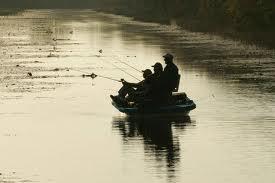 Photo of boat of bass fishermen