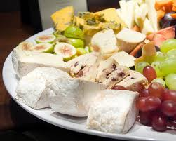 Photo of fruit and cheese platter