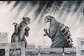 Photo of Gorgo and Godzilla