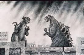 Photo of Gorgo and Godzilla