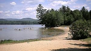 Photo of beach at Mt. Blue State Park