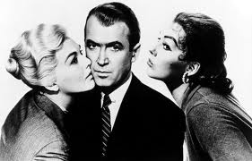 Photo of Jimmy Stewart, Kim Novak and Barbara Bel Geddes