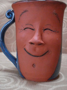 Photo of coffee mug smiling